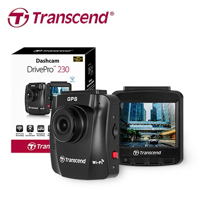 Transcend 創見 DrivePro 230 高畫質WiFi+GPS行車記錄器※贈點煙器+內附16G記憶卡※