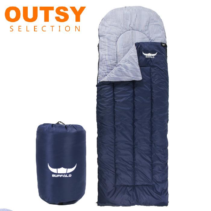 韓國Buffalo極暖加大可拼接科技中空棉睡袋 深藍