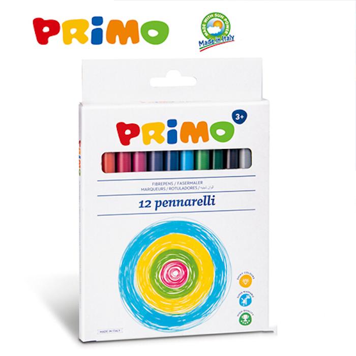[義大利PRiMO]無毒可水洗彩色筆12色