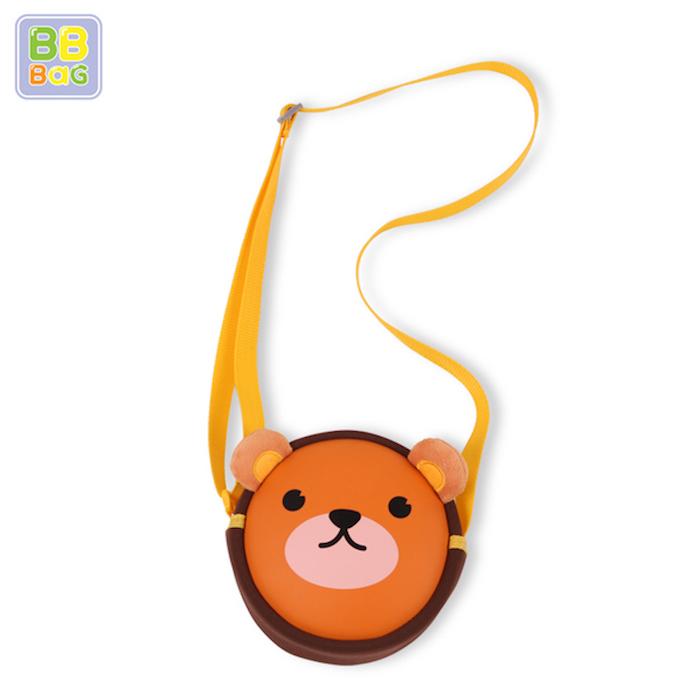 【韓國 BB BAG】可愛卡通動物斜背包-小熊
