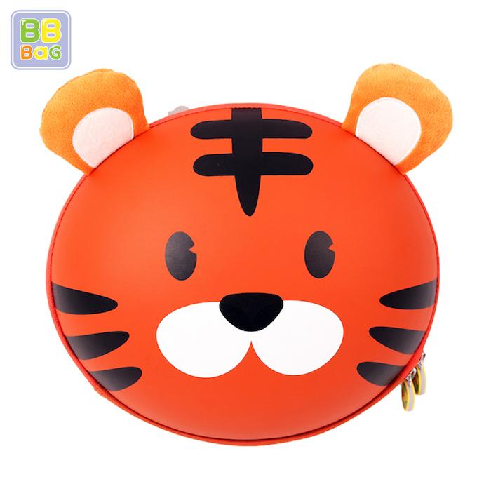 【韓國 BB BAG】 防走失可愛動物後背包書包附收納袋 - 老虎