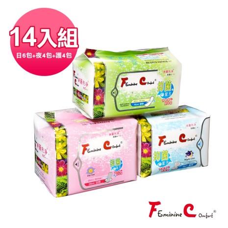 【FC美麗先淨】漢方衛生棉(涼感組C)
