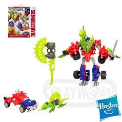 【玩具森林】[變形金剛4 絕跡重生] 組合機器人戰士組:博派柯博文&恐龍齧咬Optimus Prime&Gnaw(58pieces/擎天柱/Transformer/Construct Bots/博派/電影版/變型金剛/變形金鋼)