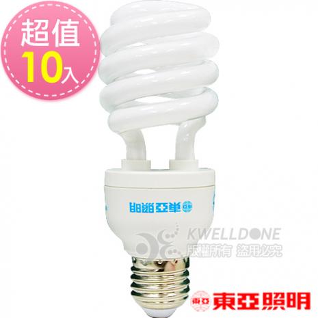 東亞照明 24W半螺型燈泡【台灣製造 】白光10入