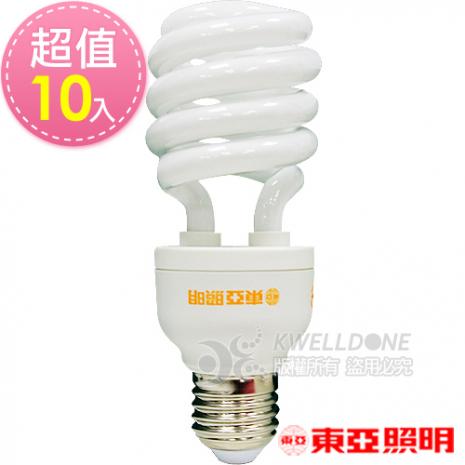 東亞照明 24W半螺型燈泡【台灣製造 】黃光10入