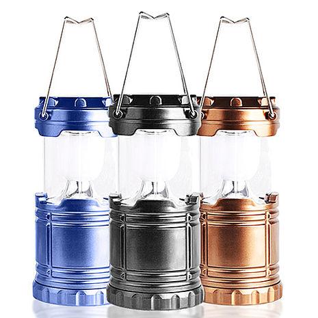 AWANA 太陽能LED伸縮露營燈(中型)x1台(三色可選)古銅金
