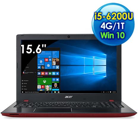 ★瘋狂下殺★ Acer E5-575G-530T (i5-6200U /15.6吋FHD/4G/1TB/940MX 2G獨顯/Win 10/紅)