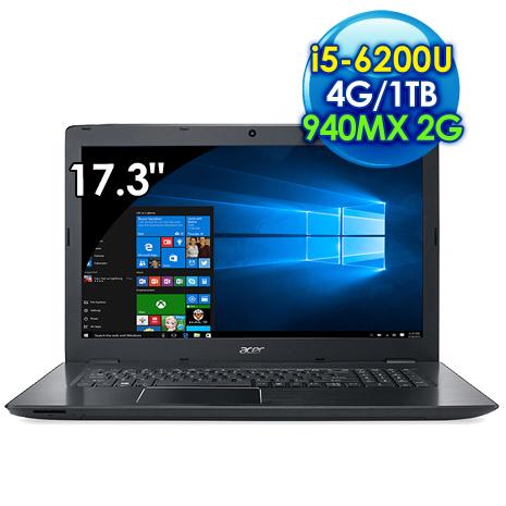 Acer E5-774G-55PZ (i5-6200U 雙核心/17.3吋FHD/4G/1TB/940MX 2G獨顯/Win10)