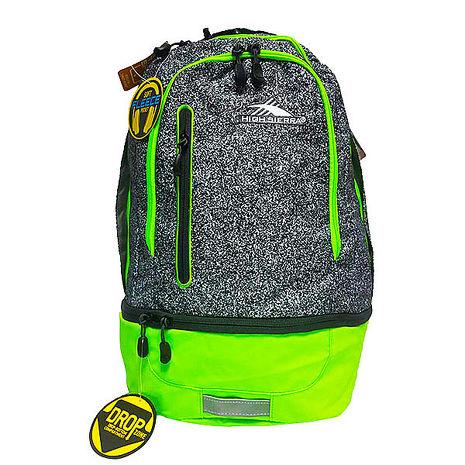HIGH SIERRA 高山包 Stash hideout backpack雙層式後背包 登山包 休間包可收納鞋子和 平板電腦-[H04-A0060-螢光錄+安全反光條限定版][禾雅時尚]
