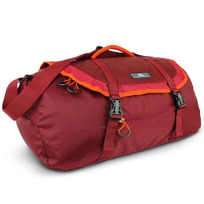 HIGH SIERRA 高山包ACK-N-GO 2 40L SPORT DUFFEL 收納式多功能旅行袋運動背包40L-紅色-96H-YP006【禾雅】