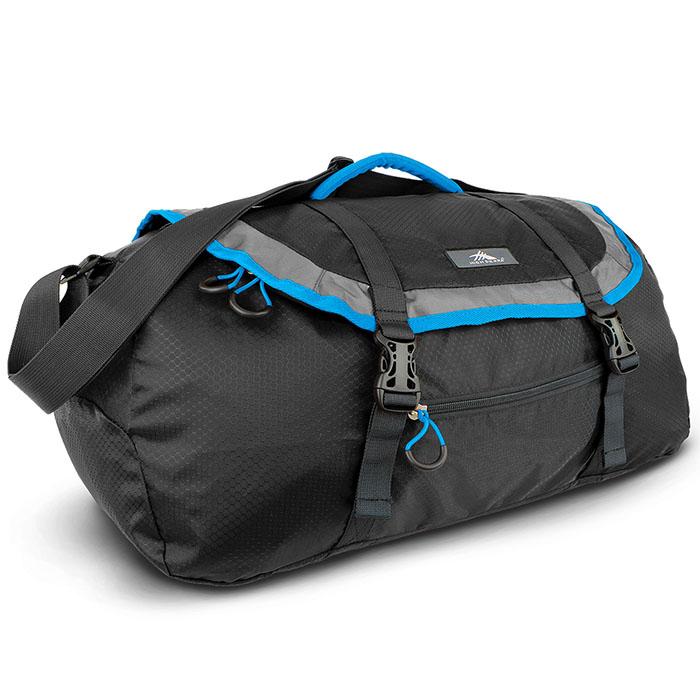 HIGH SIERRA高山包 PACK-N-GO 2 40L SPORT DUFFEL 收納式多功能旅行袋運動背包40L 黑色-96H-YM006【禾雅】