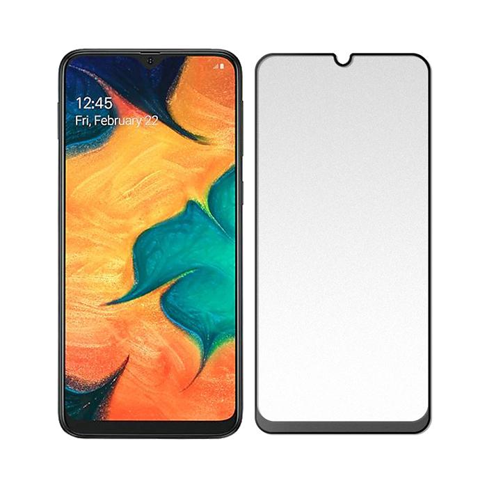 【SHOWHAN】SAMSUNG Galaxy A20/A30/A40s/A50 (6.4吋)2.5D電競級霧面滿版滿膠鋼化玻璃保護貼/黑色