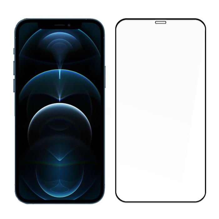 SSTAR iPhone 12 Pro Max (6.7吋)2.5D 全膠滿版日規鋼化玻璃保護貼-黑色
