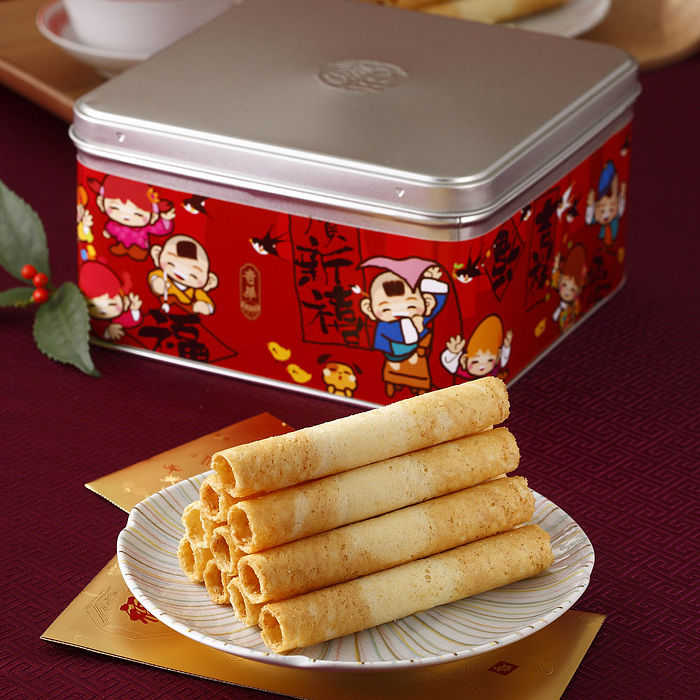 [奇華好禮]家鄉雞蛋捲2盒組(340g/盒 附提袋)