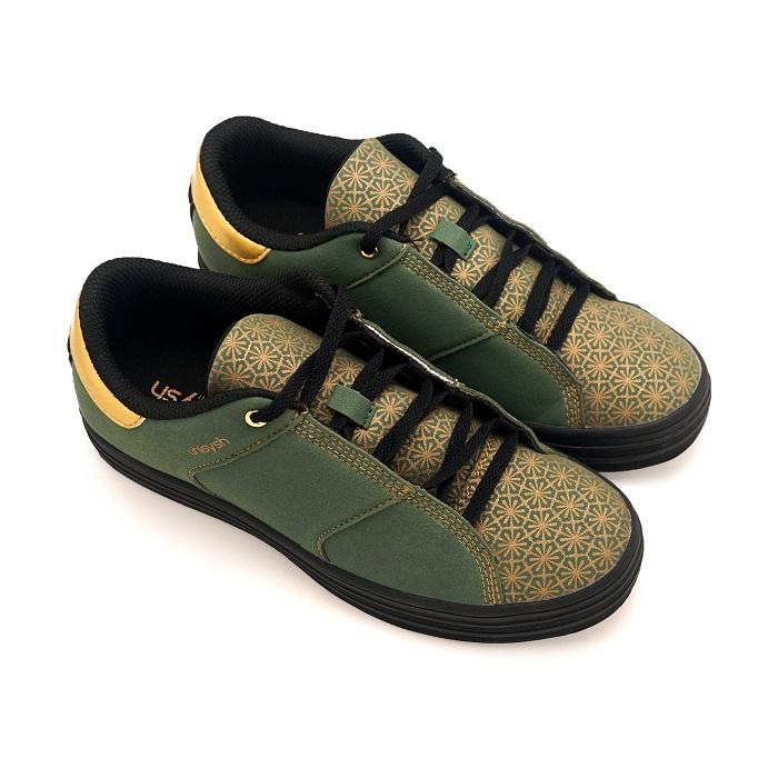 Unisysh 中國風燙金花朵休閒鞋(綠)-服飾‧鞋包‧內著‧手錶-myfone購物