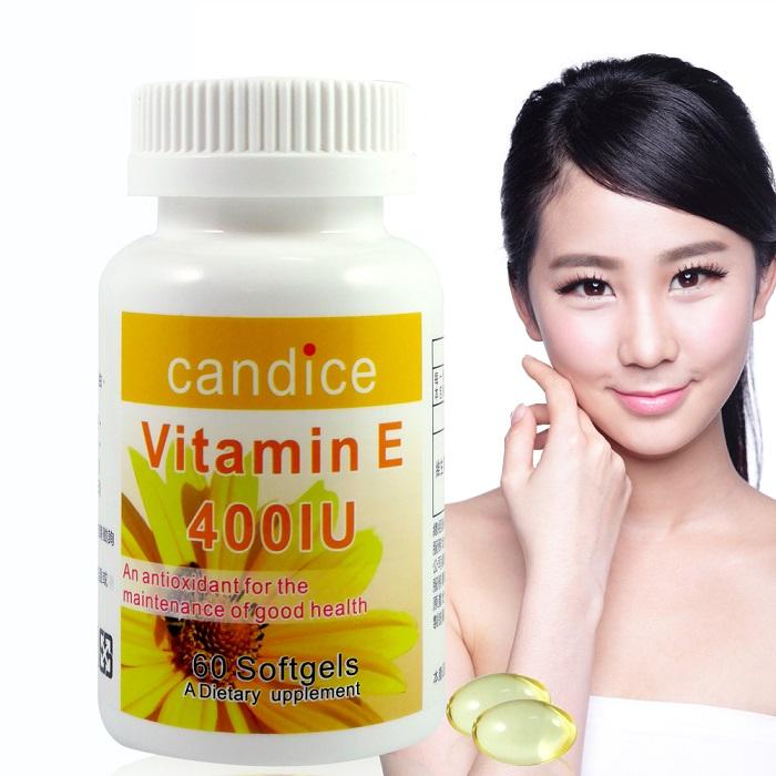 【Candice】康迪斯天然維生素E膠囊 / 維他命E / Vitamin E 60顆/瓶