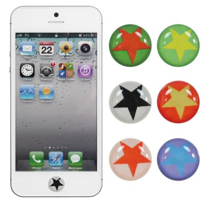 ZIYA iPhone/ iPod/ iPad Home Button按鍵貼-永恆星星
