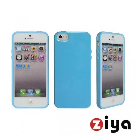 ZIYA iPhone 5/5s 馬卡龍水樣保護套 - 粉藍