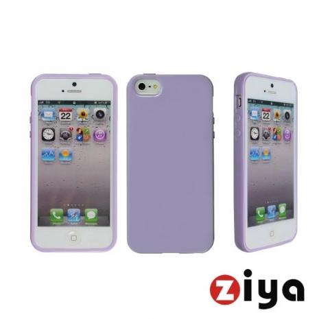 ZIYA iPhone 5/5s 馬卡龍水樣保護套 - 粉紫