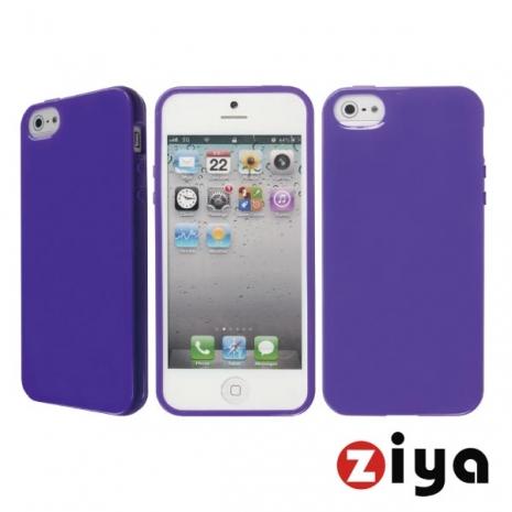 ZIYA iPhone 5/5s 馬卡龍水樣保護套 - 深紫