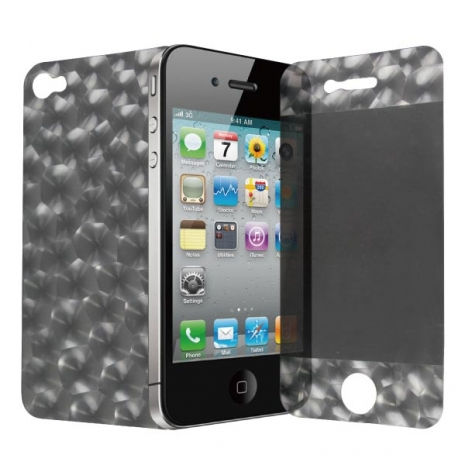 ZIYA iPhone-4S 4G機身+螢幕3D立體保護貼-炫目水立方-手機平板配件-myfone購物