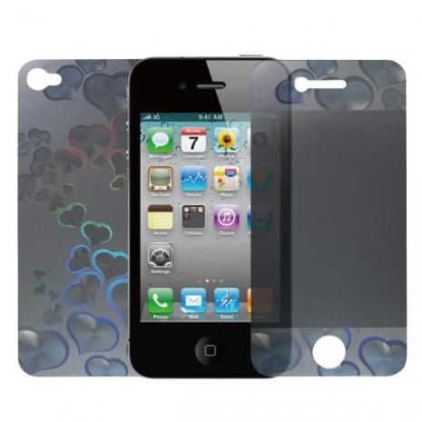 CASE4U iPhone-4S 4G機身+螢幕3D立體保護貼 - 甜美愛心-手機平板配件-myfone購物