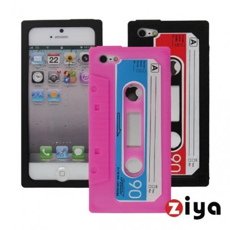 ZIYA iPhone 5 矽膠保護套 - 錄音帶造型 (粉紅)