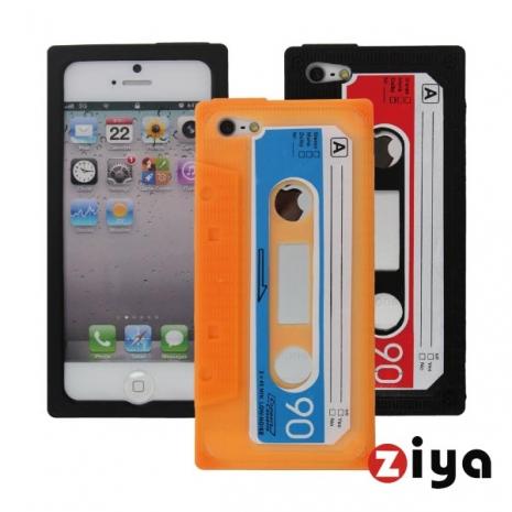 ZIYA iPhone 5 矽膠保護套 - 錄音帶造型 (橘色)