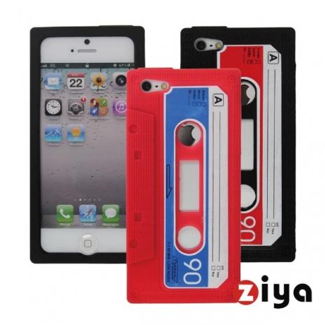 ZIYA iPhone 5 矽膠保護套 - 錄音帶造型 (紅色)