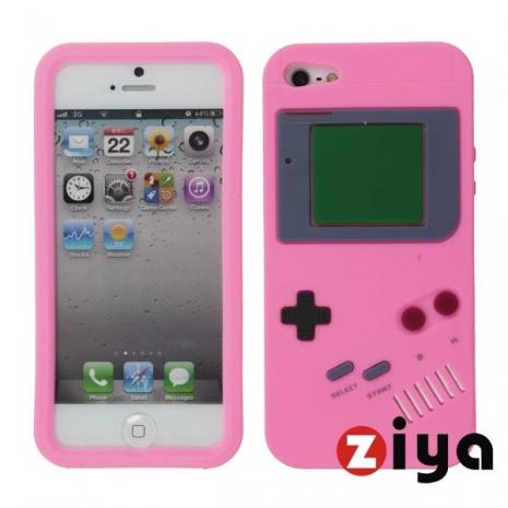 ZIYA iPhone 5 矽膠保護套 - 仿Game Boy 復古款 (粉紅)