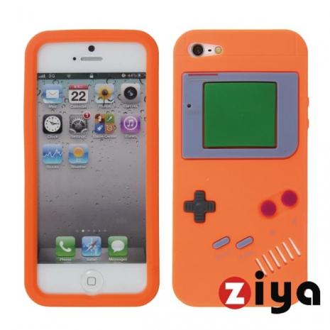 ZIYA iPhone 5 矽膠保護套 - 仿Game Boy 復古款 (橘色)