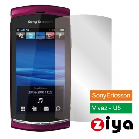 ZIYA Sony Ericsson Vivaz U5抗刮亮面螢幕保護貼 - 2入