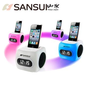 山水SANSUI 彩虹鬧鐘iPhone/iPod播放機(SRIP-22B)