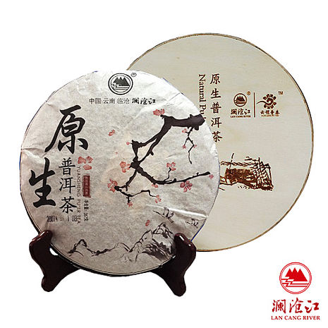 瀾滄江08年原生普洱茶-熟茶(357g/餅)-雙文堂