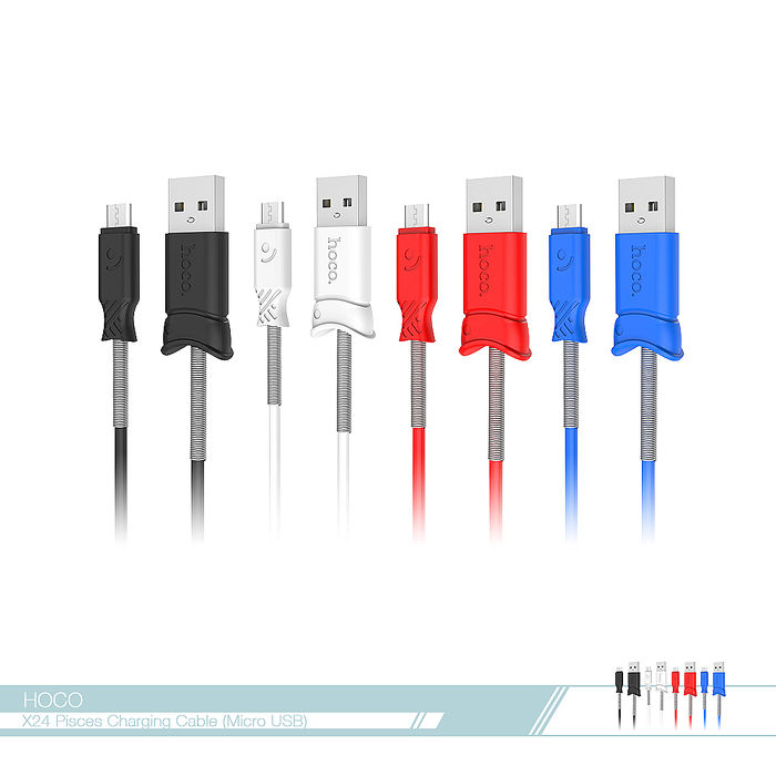 hoco.浩酷 雙魚造型 2.4A快充Micro USB數據傳輸線線/ 充電線(X24) 各廠牌適用