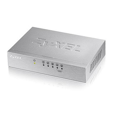 (促銷活動)ZYXEL ES-105A v3 5埠桌上型高速乙太網路交換器