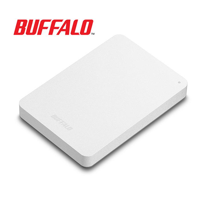 BUFFALO巴比祿 2.5吋防震加密1TB行動硬碟 HD-PNFU3白