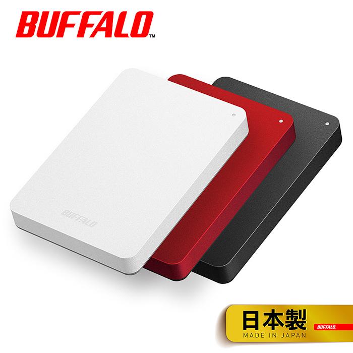 (母親節活動促銷)BUFFALO巴比祿 2.5吋防震加密1TB行動硬碟 HD-PNFU3白
