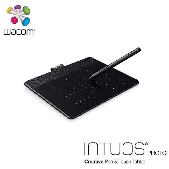 Wacom Intuos Photo 相片創意觸控繪圖板-經典黑(小) CTH-490
