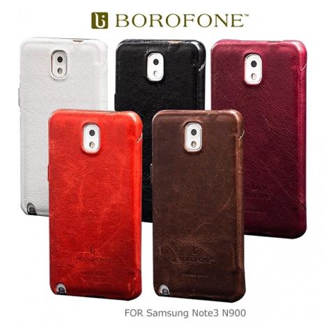 BOROFONE Samsung Galaxy Note 3 N900 N9005 奢華將軍 側翻磁扣皮套 保護套黑色