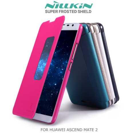 NILLKIN 華為 HUAWEI Ascend Mate 2 星?系列皮套 開窗側翻皮套極光白