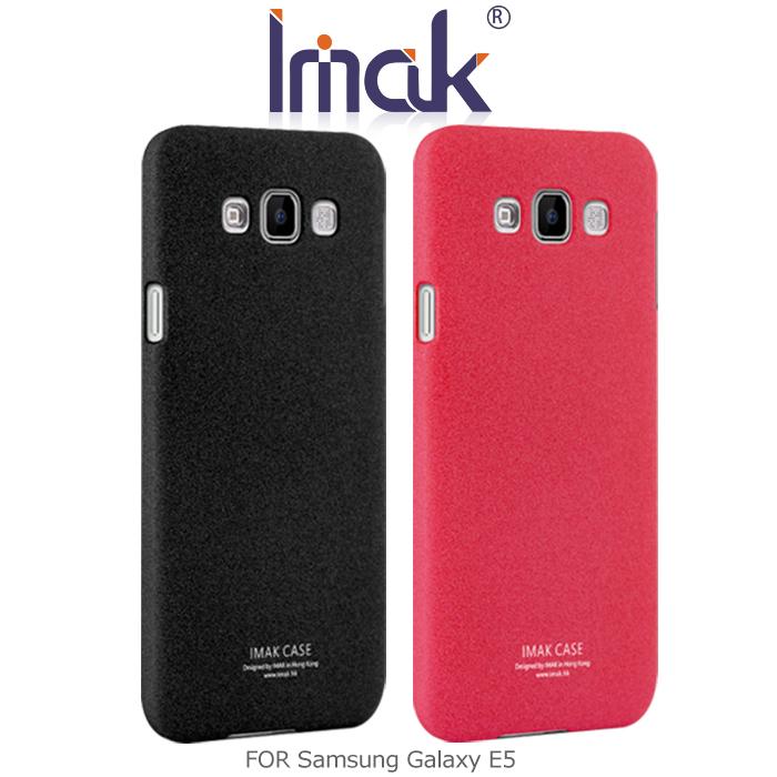 IMAK Samsung Galaxy E5 牛仔超薄保護殼黑色
