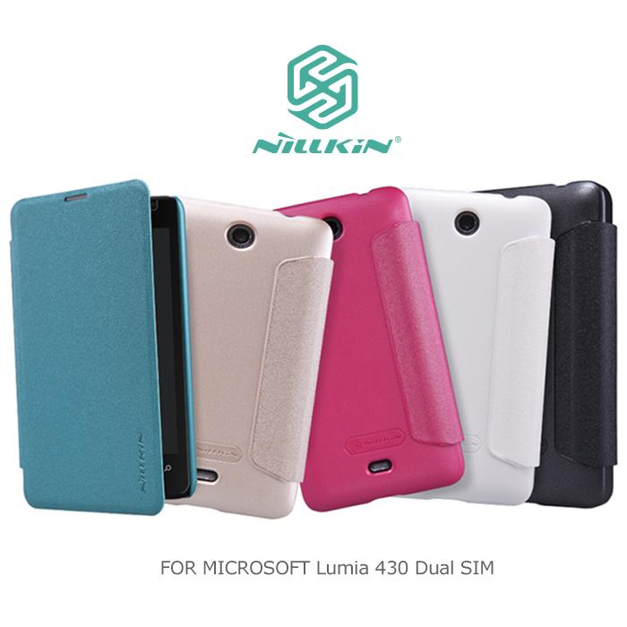 NILLKIN Microsoft Lumia 430 dual sim 星音勻皮套極光白