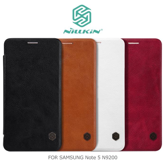 NILLKIN Samsung Note 5 N9200 N9208 秦系列側翻皮套白色