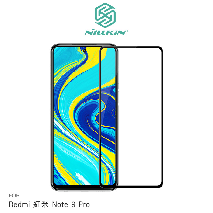 NILLKIN Redmi 紅米 Note 9 Pro XD CP+ MAX 滿版玻璃貼