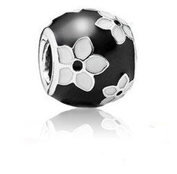 【儷禾柏珠寶】925純銀串珠 珠寶黑漆花朵