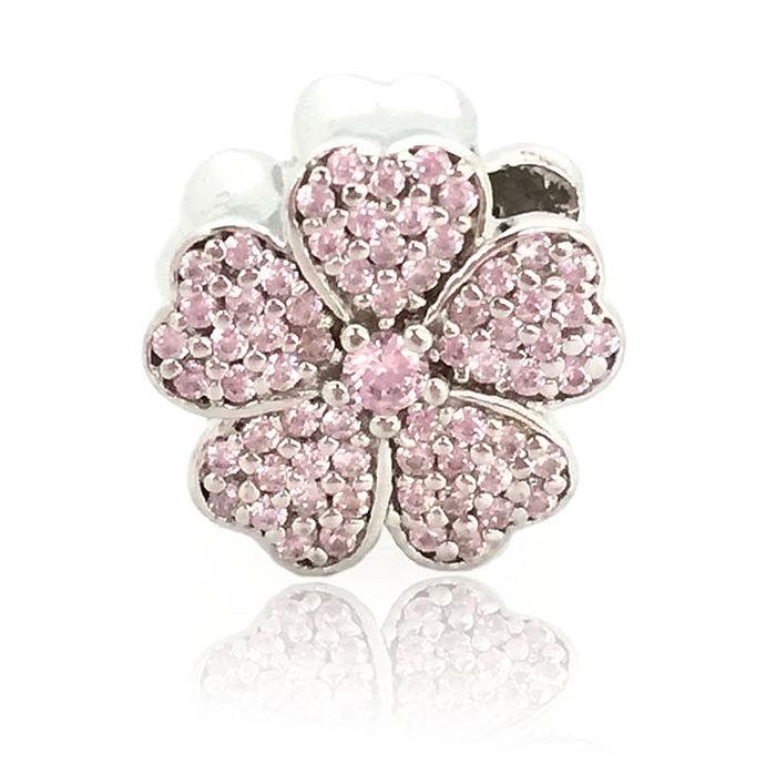 【儷禾柏珠寶】925純銀串珠 粉晶花朵