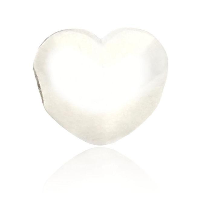 【儷禾柏珠寶】925純銀串珠 素面愛心