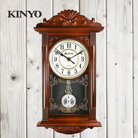 KINYO歐式復古鐘擺掛鐘CL142