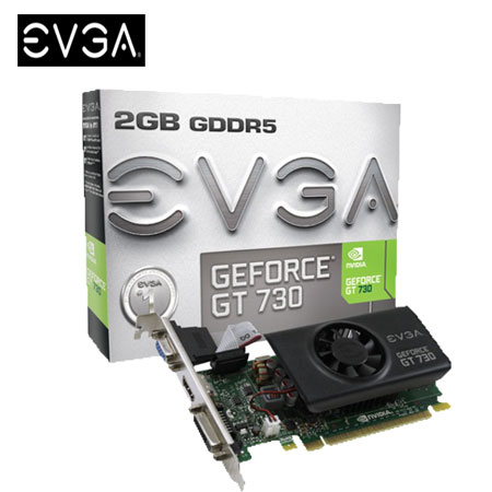 EVGA 艾維克 GT730 2GB D5 顯示卡-數位筆電.列印.DIY-myfone購物